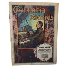 Vintage Columbia Records 1922 Catalog – Old Phonograph Memorabilia & Reference