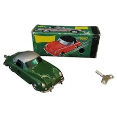 Vintage Schuco Wind-Up 1047 Porsche Micro Racer, Green – Spiel-Nutz 1980's with Box