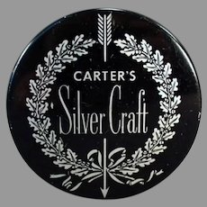 Vintage Typewriter Ribbon Tin - Silver Craft - Carter's Ink Company