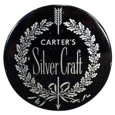Vintage Typewriter Ribbon Tin - Silver Craft - Carter's Ink Company