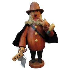 Vintage Wooden Man Peddler with Kitchenwares - Incense Burner