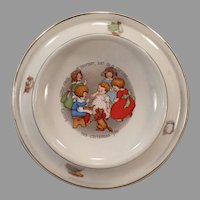 Vintage 1905 Royal Feeding Dish – Little Jack Horner Nursery Rhyme Baby Plate