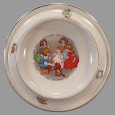Vintage 1905 Royal Feeding Dish – Little Jack Horner Nursery Rhyme Baby Plate