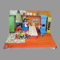Vintage Fjord Candy Box with Snow White and Dwarfs Pop-Up Action