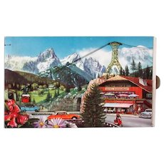 Unusual Vintage Candy Box with Moving Vehicles & Alps Graphics – Fjord Company