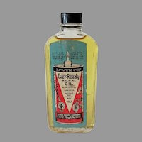 Vintage Ever-Ready Machine Oil Bottle with Original Paper Label – 1940's