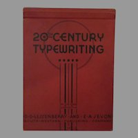 Vintage 1938 Hardbound Book – 20th Century Typewriting Two Year Course 3rd Edition