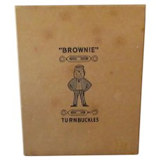 Vintage Palmer Cox Brownie on Old Turnbuckle Tool Box - Nice Advertising Collectible