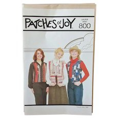 Vintage 1980's Patches of Joy #800 Laurie Vest Pattern – Unused & Complete