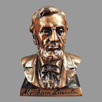 Vintage Abraham Lincoln First Federal Savings Figural Coin Bank