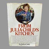 "Vintage ""From Julia Child's Kitchen"" Cookbook, Hardbound 1975 Second Printing Recipe Book"