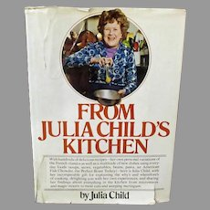 "Vintage ""From Julia Child's Kitchen"" Cookbook, Hardbound 1975 Second Printing Recipe Book"