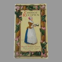 Vintage 1926 Baker's Choice Recipe Booklet - Colorful Illustrations