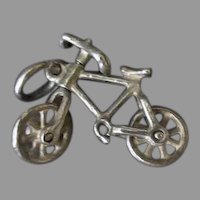 Vintage Silver Charm – Old Bicycle with Moveable Wheels and it Steers