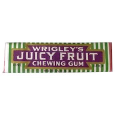 Vintage Stick of Chewing Gum - Wrigley's 1930's 1940's Juicy Fruit