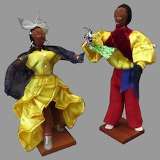 Vintage Cloth Dolls – Dancing Cuban Dolls with Bright Costumes