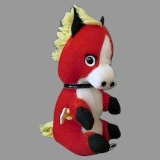 Vintage Knickerbocker Dancing Animals Wind-up Plush Horse Toy