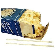 Large Box of Vintage Coast Maid Paper Straws - Approximately 500 Straws