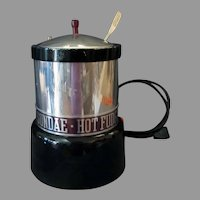 Vintage Soda Fountain Hot Fudge Sundae Electric Warmer Dispenser with Nestle's Ladle