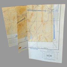 Vintage 1943 Map - Elko Nevada Sectional Aeronautical Chart Map