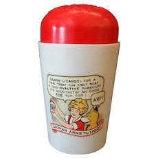 Vintage Orphan Annie & Sandy Ovaltine Leapin' Lizards Shake-up Cup - Good Condition