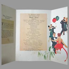 Vintage 1929 S.S. President Pierce Dollar Steamship Lines Menu – Nice Deco Graphics
