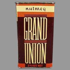 Vintage Nutmeg Spice Tin - Grand Union