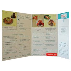 Vintage Toddle House Restaurant Menu - 1950's/1960's – Filet Mignon only $1.50