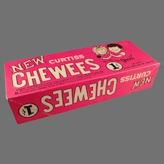 Vintage 1960's Candy Box - Curtiss 1c Cherry Chewees Candy Box