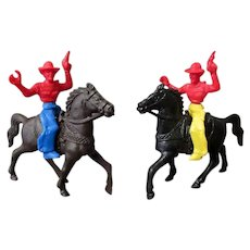 Vintage Plastic Cowboys and Horses – Simple Toys from the Past