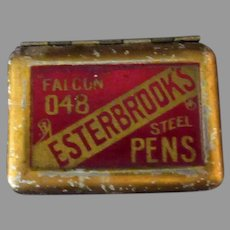 Vintage Esterbrook Falcon Steel Pens Original Tin