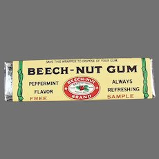 Vintage Gum - Sample Stick of Beech-Nut Peppermint Chewing Gum