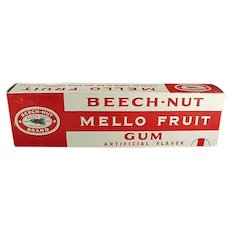 Vintage Beech-Nut Store Display Box - Mello Fruit Gum Box - 15 Inches Long