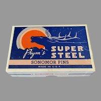 Vintage Prym's Super Steel Sonomor Dressmaker's T-Pins f-1/2# No.20