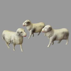 Vintage Miniature Celluloid Toys Made in USA – 3 Sheep