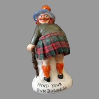 Vintage Schafer and Vater Porcelain Scotsman Whimsy - Mind Your Own Business
