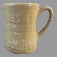 Vintage 1950's Belfast Old Fashioned Root Beer Tepco China Mug