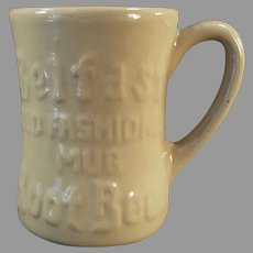 Vintage 1950's Belfast Old Fashioned Root Beer Tepco China Mug