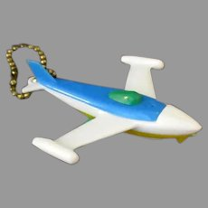 Vintage Jet Airplane Puzzle Key Chain