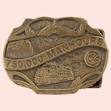 Morrison Knudsen Locomotive Shop Belt Buckle - MKCo. 1990's Limited Edition
