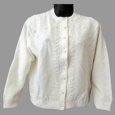 Ladies 1960's Vintage Sweater with Eloquent Beadwork – Kowloon Hong Kong