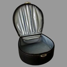 Vintage Collar Box with Collar Button Box - Black Leatherette Paper Covered