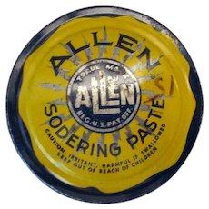 Vintage Soldering Paste Tin – Allen Sodering Paste