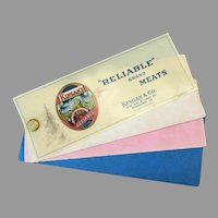 Vintage Celluloid Advertising Blotter – Kingan's Reliable Brand Meats with Sea Captain Trademark