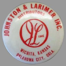 Vintage Advertising Tape Measure – Johnston & Larimer Inc. Distributors – Oklahoma & Kansas
