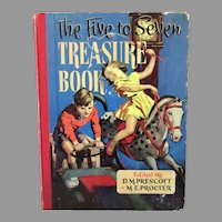 Child's Vintage Five to Seven Treasure, Story & Activity Book - Beautifully Illustrated