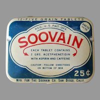 Vintage Medicine Advertising Tin – Soovain Aspirin Medical Tin