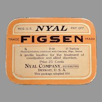 Vintage Medicine Advertising – Nyal Figsen Laxative Medical Tin