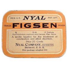 Vintage Medicine Advertising – Nyal Figsen Laxative Medical Tin