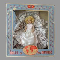 Vintage Duchess Doll with Original Box - Swedish Girl - Dolls of All Nations
